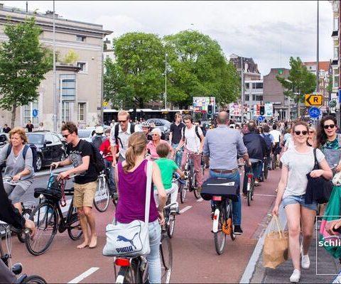 Tocht langs fietsonderzoek in Amsterdam